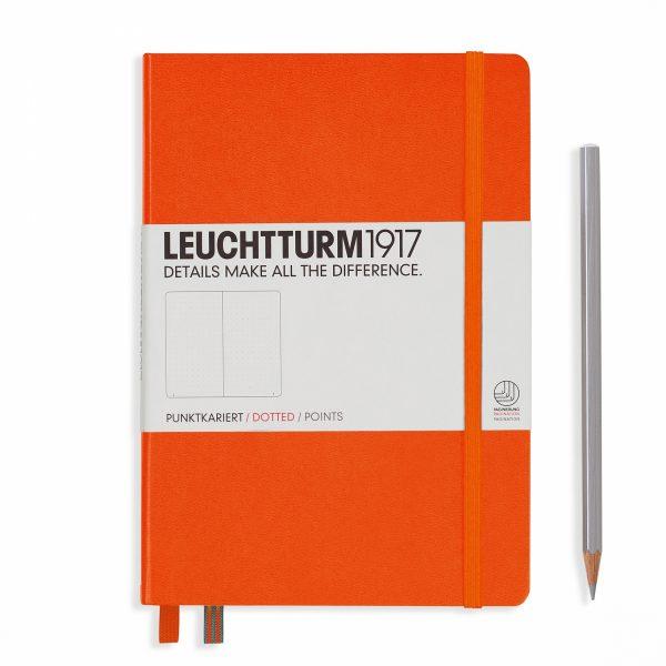 Leuchtturm A5 Hardcover notatbok i oransje farge