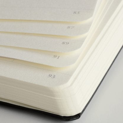 Nummererte sider på notatbok