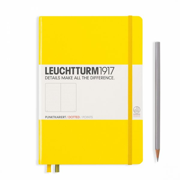notebook-medium-a5-hardcover-249-numbered-pages-dotted-lemon