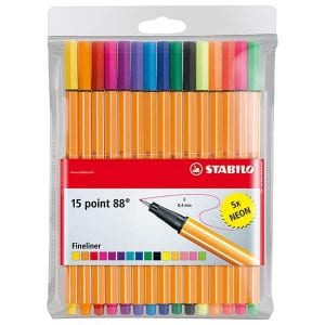 Fineliners point 88 15-pack