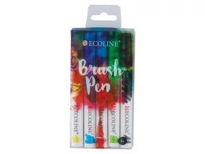 Talens-brush-pens-ecoline-5farger