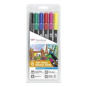 Tombow-ABT-Dual-Brush-Pen-Set-of-6