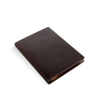 Filofax, hertitage, a5, brun, skinn, bøffelskin,