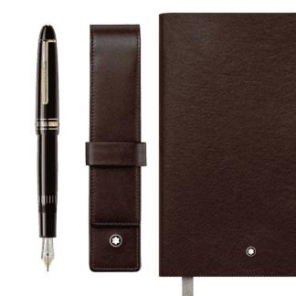 Montblanc fine stationery pakke. Fylle penn, pennholder, notebook