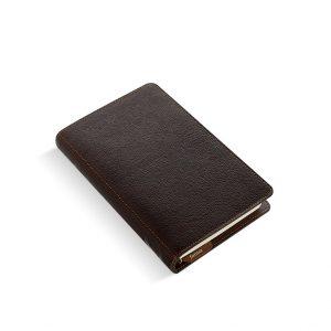 Filofax, heritage, organizer, personal, brunt skinn, bøffelskinn, brunt lær