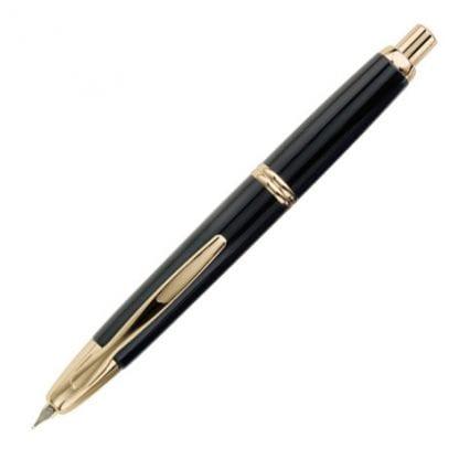 Pilot capless fyllepenn gull svart