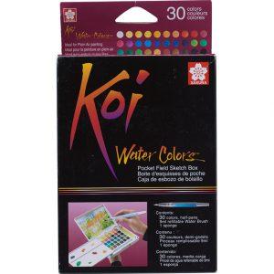 sakura koi vannfarger pocketbox sett med 48 farger