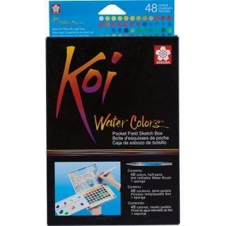 Sakura Koi sett med vannfarger 48 farger