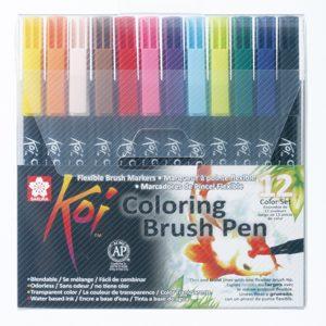 Sakura Koi Colouring Brush Pen sett med 12 farger