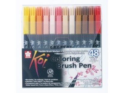 Sakura Koi Colouring Brush Pen sett med 48 farger