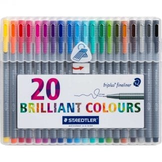 Stadtler sett med 20 farger brilliant colours 0.3 mm fineliner