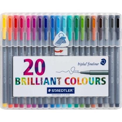 Stadtler sett med 20 farger brilliant colours 0.3 mm fineliner