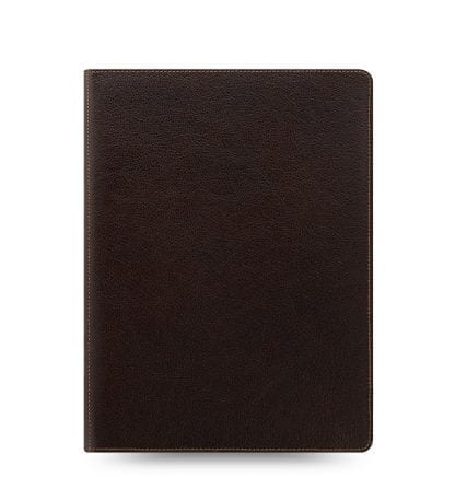 bøffelskinn, brun, skinn, organizer, filofax, a5