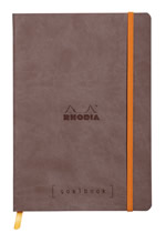 Rhodia notatbok Goalbook Softcover Dotted A5_chocolate
