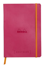 Rhodia notatbok Goalbook Softcover Dotted A5 rød rosa