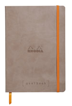 Rhodia notatbok Goalbook Softcover Dotted A5 lys brun