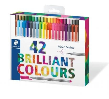 staedtler 42 sett brilliant colours triplus fineliner