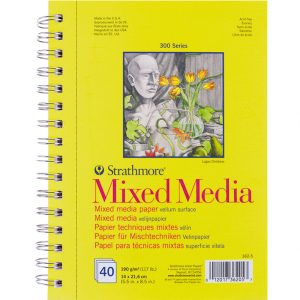 Strathmore 300 – Mixed Media Paper – 14×21,6cm – 40ark