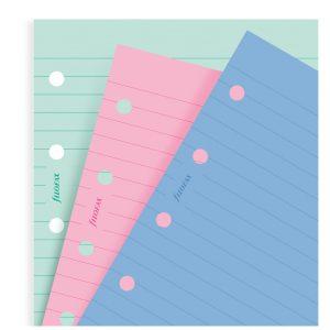 Filofax Fashion Coloured Ruled Notepaper