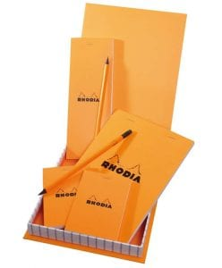 Rhodia Orange Essential box rhodia gaveeske