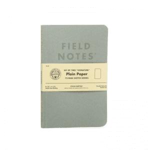 Field notes notatbok med plain paper