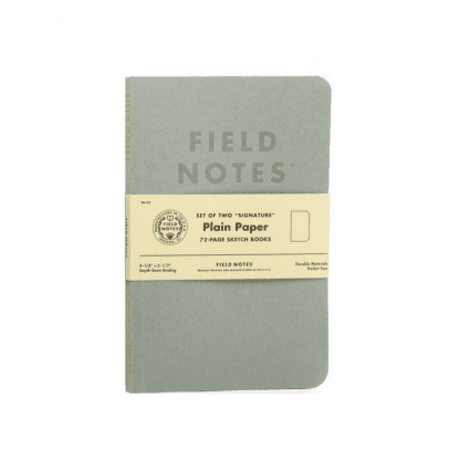 Field notes notatbok med plain paper