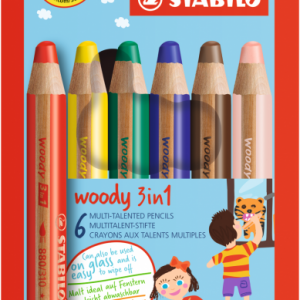 Stabilo 3in1 wood 6 pack