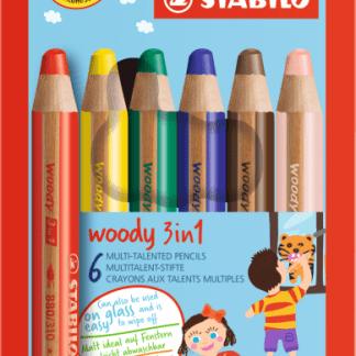 Stabilo 3in1 wood 6 pack