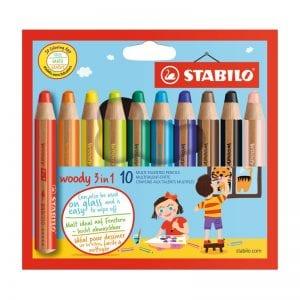 Stabilo woody 3in1 10 pack