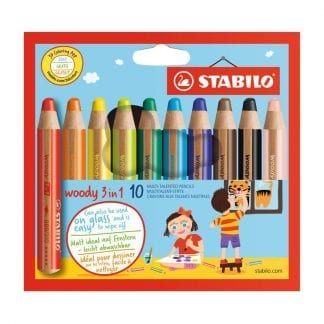 Stabilo woody 3in1 10 pack