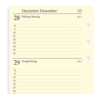 Filofax refill 19-7541 en uke per oppslag