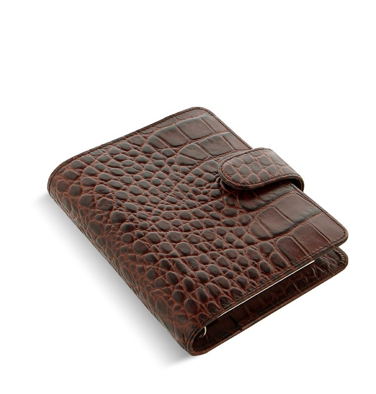 ebony pocket Filofax croc